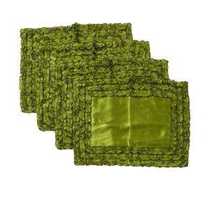 Ann Gish Ruffled Moss Placemat Set of 4